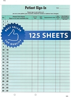 HIPAA Sign In Sheets Green 125/Pack