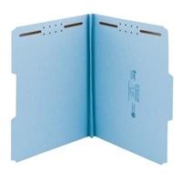 Smead 100% Recycled Pressboard Fastener File Folder, Blue (15000)