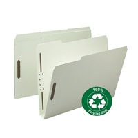 Smead 100% Recycled Pressboard Fastener File Folder, 1/3-Cut (15004)