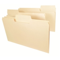 Smead SuperTab File Folder, 1/3 Tab, Legal, Manila, 100/Box (15301)