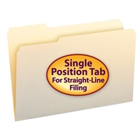 Smead File Folder, 1/3- Cut Tab Left Position, Legal, Manila (15331)