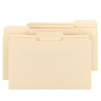 Smead File Folder 100% Recycled, 1/3-Cut Tab, Legal, Manila (15339)
