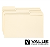 File Folders, 1/3-Cut Tab, Legal Size, Manila, 100 Box (15346)