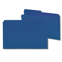 Smead Colored Folders with Reversible Tab (15362) Navy