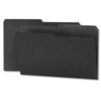 Smead Colored Folders with Reversible Tab (15364) Black