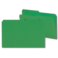 Smead Colored Folders with Reversible Tab (15367) Dark Green
