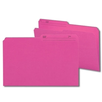 Smead Colored Folders with Reversible Tab (15368) Dark Pink