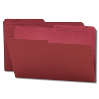 Smead Colored Folders with Reversible Tab (15369) Maroon