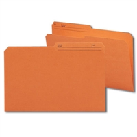 Smead Colored Folders with Reversible Tab (15370) Orange