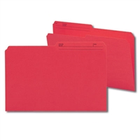 Smead Colored Folders with Reversible Tab (15372) Red