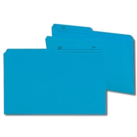 Smead Colored Folders with Reversible Tab (15373) Sky Blue