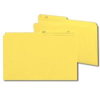 Smead Colored Folders with Reversible Tab (15374) Yellow