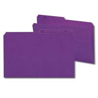 Smead Colored Folders with Reversible Tab (15378) Purple