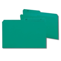 Smead Colored Folders with Reversible Tab (15379) Teal