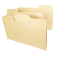 Smead SuperTab Heavyweight File Folder, Legal, Manila, 50/Box (15401)