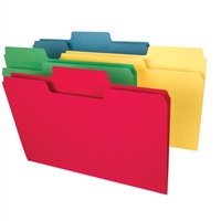 Smead SuperTab Heavyweight File Folder, Legal, Colors, 50/Box (15410)