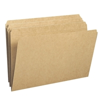 Smead File Folder, Reinforced Straight-Cut Tab, Legal, Kraft (15710)