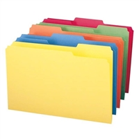 Smead File Folder, 1/3-Cut Tab, Legal Size, Assorted Colors (16943)