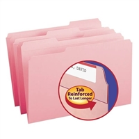 Smead File Folder, Reinforced 1/3-Cut Tab, Legal, Pink, 100/Bx (17634)