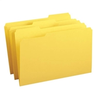Smead File Folder, Reinforced 1/3-Cut Tab, Legal, Yellow, 100/Bx (17934)