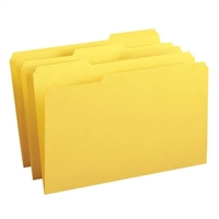 Smead File Folder, 1/3-Cut Tab, Legal Size, Yellow, 100/Bx (17943)