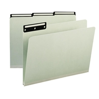 "Smead Pressboard Folders 1/3-Cut Tab Flat Metal, 1"" Expansion (18430)"