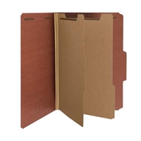 Smead 100% Recycled Pressboard Colored Classification Folders (19046)