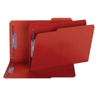 Smead Red Pressboard Folders with SafeSHIELD Fasteners (19936)