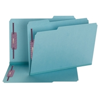 Smead Blue Pressboard Fastener Folders with SafeSHIELD Fasteners (19937)
