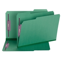 Smead Green Pressboard Fastener Folders with SafeSHIELD Fasteners (19938)