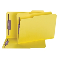 Smead Yellow Pressboard Fastener Folders with SafeSHIELD Fasteners (19939)