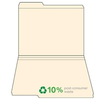 Manila Top Tab File Folders, 1/3-Cut (1st Position), 100/Box