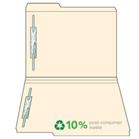 Manila Top Tab File Folders, 1/3-Cut (1st Position), Two Fasteners, 50/Box