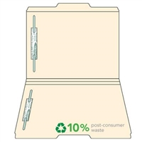 Manila Top Tab File Folders, 1/3-Cut (2nd Position), 2 Fast, 50/Box
