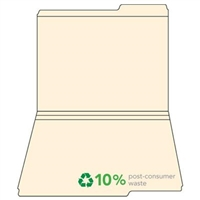 Top-Tab File Folders, 1 Tab (Right), 1/3 Cut, Manila, Letter Size, 100/Box