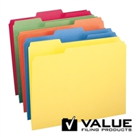File Folder, 1/3-Cut Tab, Letter Size, Assorted Colors, 100/Bx (21126)