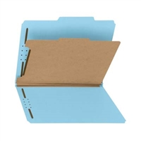 100% Recycled Pressboard Colored Classification Folders (21180)