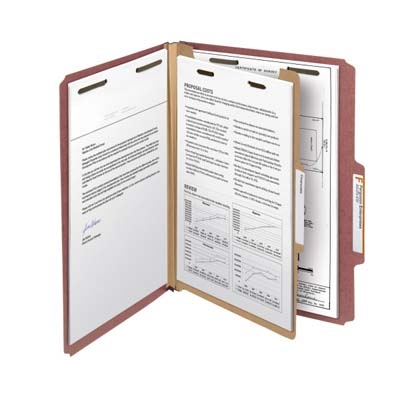 Smead Comparable 100% Recycled Pressboard Colored Classification Folders (21182)