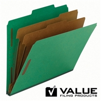 "100% Recycled Pressboard Classification Folder, 2"" Exp (21186)"
