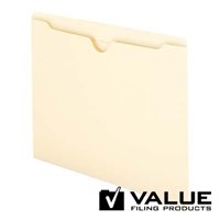 File Jackets, Reinforced Straight-Cut Tab, Flat-No Exp, (21216)