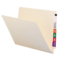 Smead End Tab File Folder, Straight-Cut Tab, Letter, Manila 100/Bx (24100)