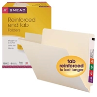 Smead End Tab File Folder, Shelf-Master Straight-Cut Tab, 100/Bx (24110)