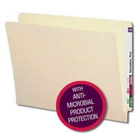 Smead End Tab File Folder with Antimicrobial, Letter, Manila (24113)