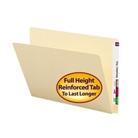 Smead End Tab File Folder, Straight-Cut Extended Tab, Letter Size, 100/Bx (24250)