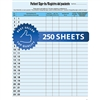 Patient Sign-In Label Forms Blue 250/Pack