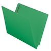 "Smead Colored End Tab Folders, Letter Size, 3/4"" Exp, Fastener Pos 1/3, 11pt Green WaterShed/Cutless, 50/Bx"