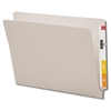 "Smead Colored End Tab Folders, Letter Size, 3/4"" Exp, No Fastener, 11pt Gray, 100/Bx"