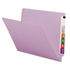 "Smead Colored End Tab Folders, Letter Size, 3/4"" Exp, No Fastener, 11pt Lavender, 100/Bx"