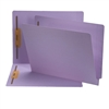 "Smead Colored End Tab Folders, Letter Size, 3/4"" Exp, Fastener Pos 1/3, 11pt Lavender, 50/Bx"