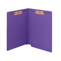 "Smead Colored End Tab Folders, Letter Size, 3/4"" Exp, Fastener Pos 1/3, 11pt Purple WaterShed/Cutless, 50/Bx"